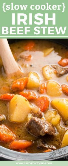 Do you love the old fashioned classic family dinner, Irish Beef Stew? This version is easy to make in your slow cooker! The simple ingredients include meat, plenty of healthy vegetables and potatoes. It's one of my kid's favorite homemade comfort foods and I love how simple it is to put together! Get your crockpot out and serve this homemade dinner with your best recipe for traditional soda bread tonight!