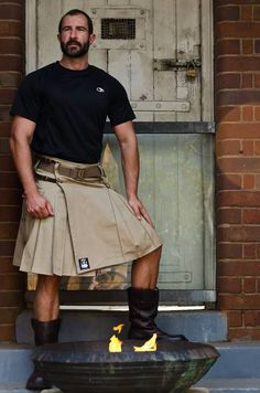 Kilt or maybe just have him model it all day.....