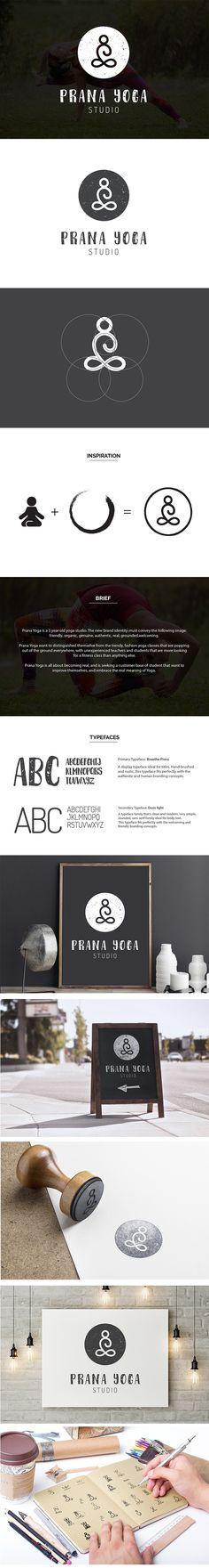 Logo Design Yoga Studio, Yogi Branding | minimal, one stroke, line, geometric, modern, friendly, real, organic | Prana Yoga, Roleystone | Valhalla Creative Design, Perth