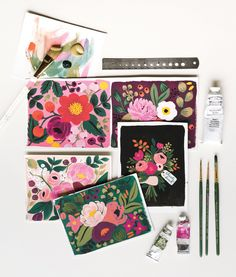 Rifle Paper Co. floral stationery design inspiration.