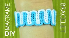 Simple technique of weaving. There are two main cords and some on the background. From the number of background cords depends the thickness of Bracelet. This can be used as a friendship bracelet. by @Macrame School