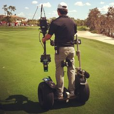 [Photo] #TavistockCup Segway camera operator on #GolfChannel production crew