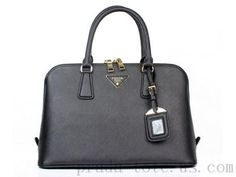 Authentic  Prada BL0837 Handbags in Black Outlet store bb7e192620349