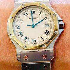 【カルティエ - サントスオクタゴン】Y.M様 「20年前の一品。仕事で昇格した自分へのご褒美として購入を決意!これを機に、また仕事に精が出ました!」 長くご愛用ですが、大切に使用されているため傷はかなり少なめ。 「人生の節目に時計を買うと、何かと頑張れます!」とステキな笑顔もいただきました☆ #静岡市 #タカラ堂 #takarado #時計祭 #カルティエ #正規取扱店 #お気に入りの時計 #takarado_watch_story #人生の節目に腕時計を #cartier #santos #octagon #サントス #オクタゴン #昇格 #ご褒美
