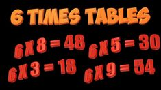 Multiplication Song: 6 times tables - YouTube Multiplication Facts Games, Times Tables, Neon Signs, Writing, Learning, Youtube, Multiplication Tables, Studying, Teaching