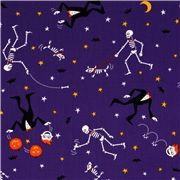 purple Halloween fabric skeleton Frankenstein pumpkin