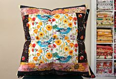 Allegria Pillow Set by maureencracknell, via Flickr - Would love to make something like this this year, love the mix of color and pattern