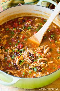 Skinny Chicken Fajita Soup Recipe - Low Fat, Gluten Free,  Low Carb Option!