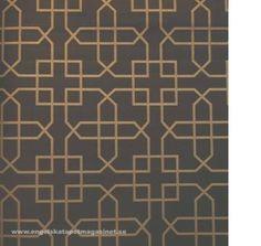 Beställ Siam Trellis grå/brun/svart tapet från Sanderson®