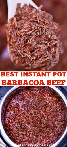 Instant Pot Barbacoa Beef Recipe – Sweet and Savory Meals Instant Pot Barbacoa Beef is super tender and extra flavorful that can be done in no time at all. This dish is perfect for tacos, burritos, salads, quesadillas and much more! Mexican Food Recipes, Crockpot Recipes, Italian Recipes, Gourmet Recipes, Cooking Recipes, Healthy Recipes, Cooking Bread, Cooking Games, Casserole Recipes
