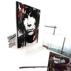 Håkan Hellström painted in 9 minutes live by VAGNELIND