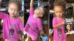 This little three year old explains exactly why her Dad was right in saying she is just like Serena Williams!