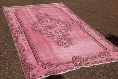 Roze vintage vloerkleed nr 1524,  210cm x 115cm