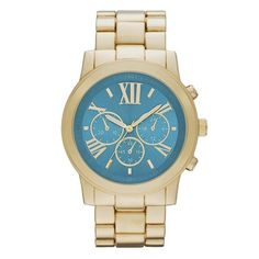 Women's Mossimo® Boyfriend Watch with Decorative Subdials- Gold