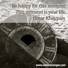 This moment is your life - Nozomi Morgan