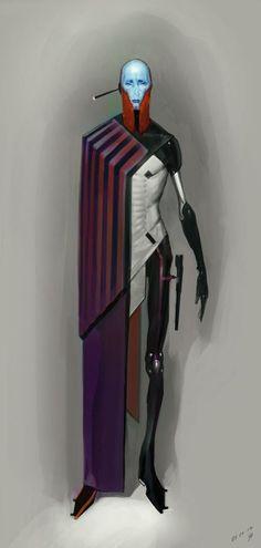 [ Red Duelist ] The Art of Timur Mutsaev Character Concept, Character Art, Character Design, Science Fiction, Alien Concept, Concept Art, Cyberpunk Art, Cyberpunk Fashion, Character