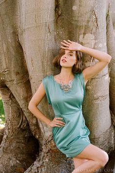 A modern & romantic bridesmaid look. #bridal #ruche #shopruche