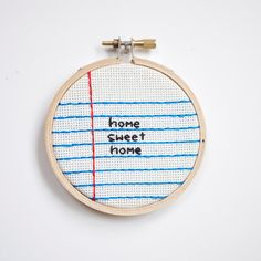 home sweet home cross stitch embroidery wall by RugglesMade
