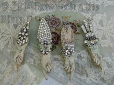 Art Deco nspired by Debby Anderson © 2014 Romancing the Bling ~ Hand -Sculpted