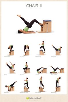 Exercise Posters | Posters, Cards & Gifts | Studio Furnishings | Store | Balanced Body #ChairWorkout #StudioWorkouts