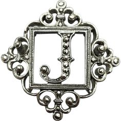 Vintage Monogram J Brooch Fancy Initial Pin FREE shipping in the USA for a short time if purchased at full price!