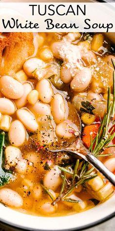 Bean Soup Recipes, Vegetarian Recipes, Cooking Recipes, Healthy Recipes, Healthy Soups, Good Soup Recipes, Vegan Bean Soup, Lima Bean Recipes, Mexican Soup Recipes