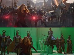 How the 'Avengers: Endgame' Battle Looks Without Visual Effects Chroma Key, Visual Effects, Avengers, Battle, Marvel, Concert, Special Effects, Movies, Cgi