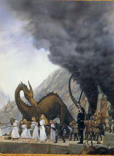Glaurung and Túrin at Nargothrond ...