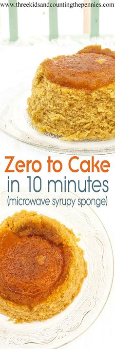 A super-quick cake recipe. Just 5 mins prep then 5 mins cooking. Ideal for a last minute dessert!