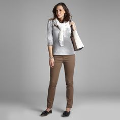 Boat Neck Stripe Top at Laura Ashley