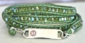 YES!  She would wear this.  Links of Hope Olive Medical Alert ID Bracelet