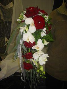 Brautstrauss Orchideen-Rosen