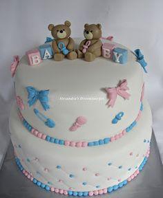 Alexandra's droomtaartjes: Gender reveal cake / geslachtsonthullings taart…