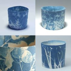 Sunprint on porcelain by Deirdre Hawthorne - how does she do that?
