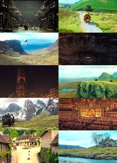 Various scenes from Stardust - Faraway views of places from the movie Stardust