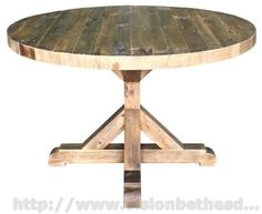 Reclaimed wood dining table round