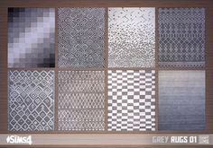 Oh My Sims 4 - Grey rugs