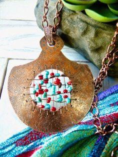 COPPER WEAVE Statement Necklace 24 Handmade by BOUTIQUEofBlueRidge