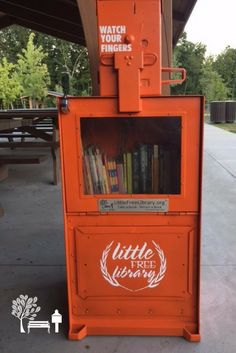 Another DARLING newspaper box Little Free Library book exchange - stewarded by Eden B. in Agawam, MA.   Eden B. age 10, created Agawam's first Little Free Library as part of her Girl Scout Bronze Award project. She loves books and wants to make sure that all visitors to School Street Park have the option to borrow a book or take one home to read. She believes that Books Build Communities!