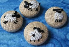 Embroidered Sheep buttons by butteredparsnips on Etsy