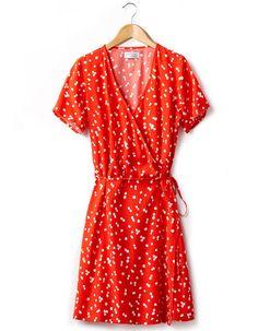 Robe rouge Jeanne Damas La Redoute