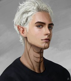 """""""Day 166 - Something Fenris (Dragon Age) inspired - could be a modern Fenris :) Fantasy Character Design, Character Design Inspiration, Character Concept, Character Art, Dragon Age Characters, Dnd Characters, Fantasy Characters, Elfen Fantasy, Arte Cyberpunk"""