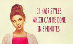 14 hairstyles which can be done in three minutes
