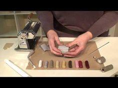 Cane fleur en millefiori - YouTube Polymer Clay Canes, Polymer Clay Flowers, Polymer Clay Jewelry, Clay Tutorials, E Design, Coups, Crafts, Buttons, Beads