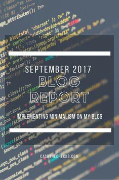 September 2017 Blog Report: Getting Lean
