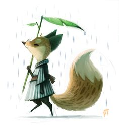 Piper Thibodeau Day 516. Quickie Fox Sketch