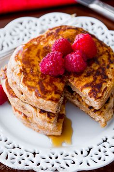 Whole Wheat Oatmeal Pancakes. This recipe has adaptation notes already for those who have a different kind of milk and/or yogurt than what's listed.