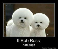 """Bob Ross """"Happy Little Dogs."""""""