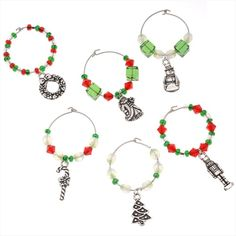 SUPPLIES FOR PROJECT C623 HOLIDAY WINE CHARMS SET OF 6 from beadaholique.com