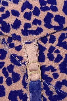 Stella McCartney - Jojo Wishing Flocked Mesh Balconette Bra - Bright blue